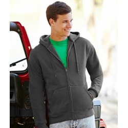 miękka bluza męska Zip Through Hooded Sweat na zamek